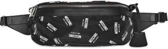 Moschino All Over Logo Printed Nylon Belt Bag
