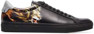 Givenchy logo embossed lion printed sneakers