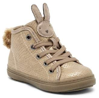 SPROX Wabbit Faux Fur Pompom Sneaker (Toddler)