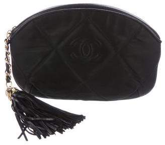 Chanel Quilted Tassel Zip Pouch