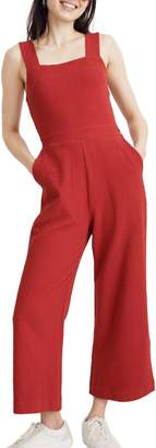 887cfaccc7d1 Madewell Texture   Thread Apron Bow Back Jumpsuit