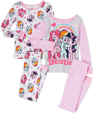 61d712eacb My Little Pony Girls 7-16) 4-Piece Little Pony Pajama Set