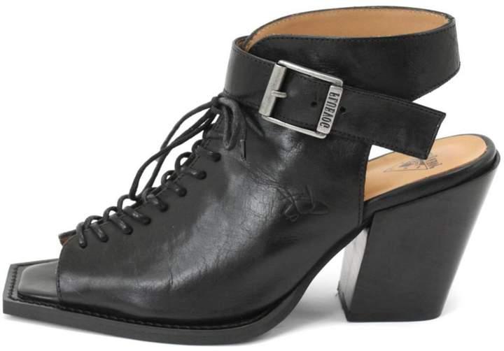 John Fluevog Rockafellah Black Heel