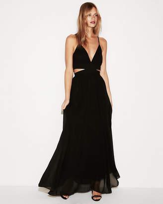 Express Cut-Out Elastic Waist Maxi Dress
