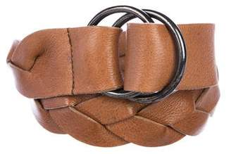 Miu Miu Braided Leather Belt