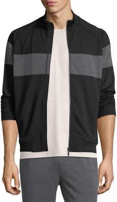 Ermenegildo Zegna Techmerino Techmerino Stripe Zip Sweatshirt