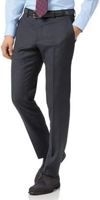 Charles Tyrwhitt Steel Blue Slim Fit Twill Business Suit Wool Pants Size W32 L38