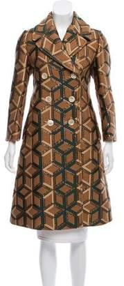 Gucci Metallic Knee-Length Coat