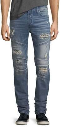 True Religion Rocco Distressed Skinny Biker Jeans