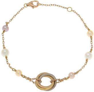 Cartier 18K Gold Cultured Pearl Bracelet - Vintage