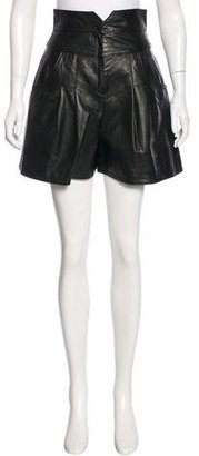 Rachel Roy Leather High-Rise Shorts $90 thestylecure.com