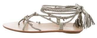 Loeffler Randall Suede Embellished Sandals