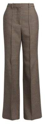 Victoria Beckham High-Waist Plaid Wool Pants