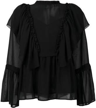 Blugirl sheer blouse