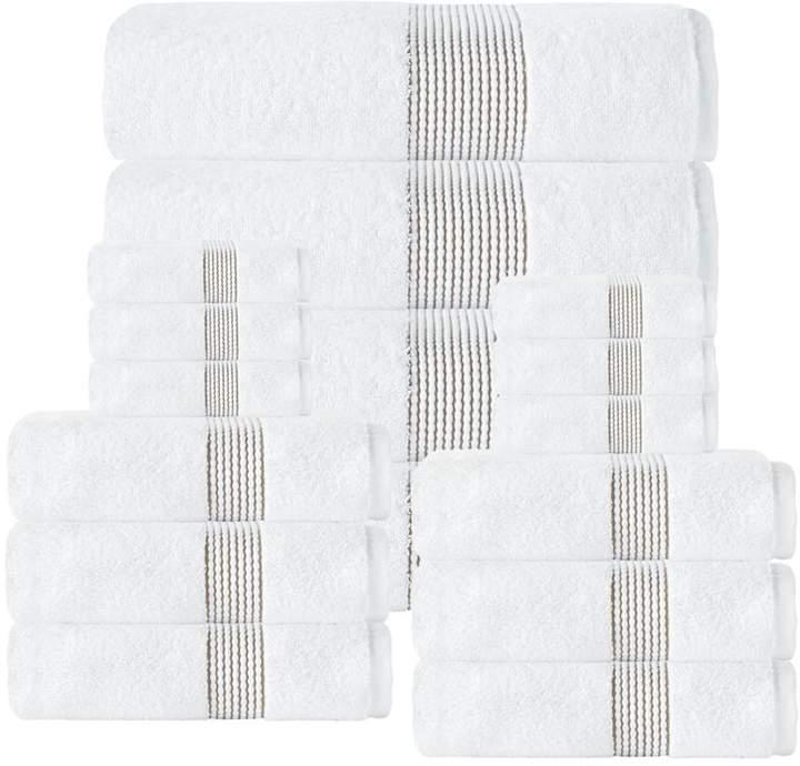Turko Textile LLC Enchante Home Elegante 100% Turkish Cotton 16-piece Towel Set