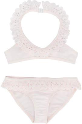 Lili Gaufrette scallop trim bikini