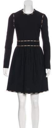 Lanvin Long Sleeve Wool Dress