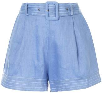 SUBOO belted waist shorts