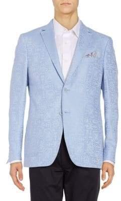 Classic Fit Jacquard Linen-Blend Sportcoat