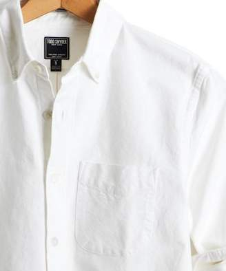 Todd Snyder Japanese Selvedge Oxford Button Down Shirt in White