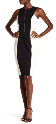 Alexia Admor Front Zip Colorblock Dress