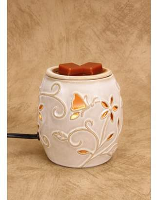BEIGE Darice Ceramic Wax Warmer - Electric Flowers and Nature Design
