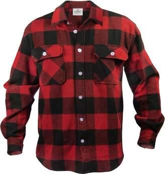 Rothco Extra Heavyweight Brawny Plaid Flannel Shirt (2X-Large, )