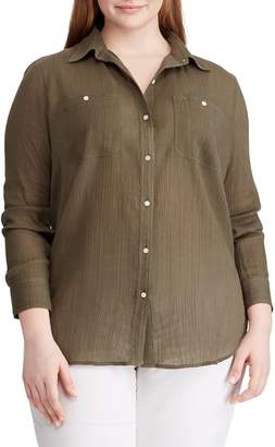 Chaps Plus Utility Button-Down Shirt