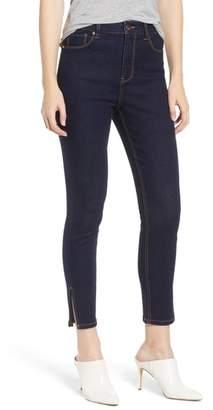 Tinsel Split Hem Ankle Skinny Jeans
