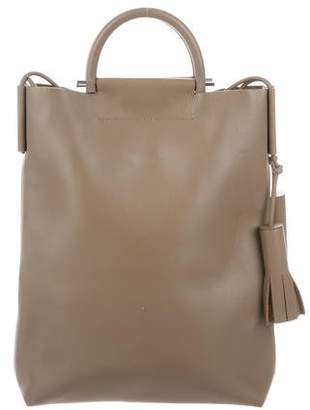 Building Block Leather Business Tote