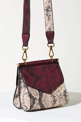 Two Tone Snakeskin Crossbody Bag