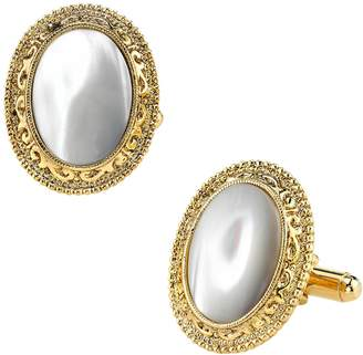 1928 Cabochon Oval Cuff Links