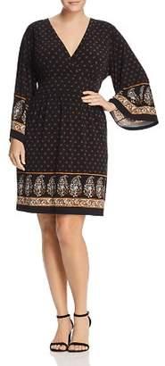 MICHAEL Michael Kors Paisley Floral Border Print Dress