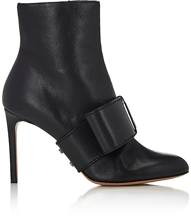 Valentino Women's Half-Bow Leather Ankle Boots