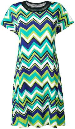 M Missoni green patterned T-shirt dress