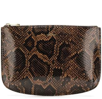 A.P.C. snakeskin printed clutch