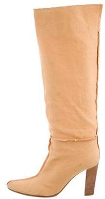 Bottega Veneta Canvas Knee-High Boots