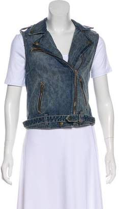 Current/Elliott Asymmetrical Jean Vest