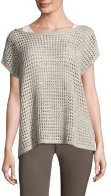 Lafayette 148 New York Open Stitch Cashmere Sweater