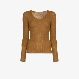 Jacquemus fitted rib jumper