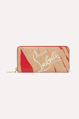Christian Louboutin Panettone Kraft Printed Leather Continental Wallet - Red