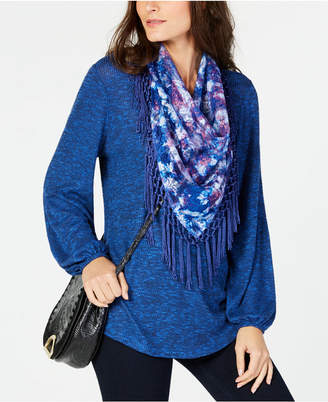 Style&Co. Style & Co Tassel-Trim Scarf Top