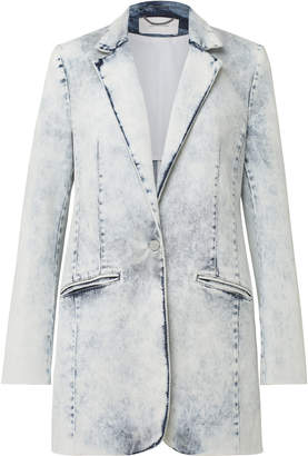 Schumacher Dorothee New Denim Single Breasted Acid Wash Jacket