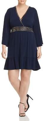 MICHAEL Michael Kors Studded Deep V-Neck Dress