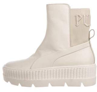 bd10af68da0b Pre-Owned at TheRealReal · FENTY PUMA by Rihanna Leather Mid-Calf Boots