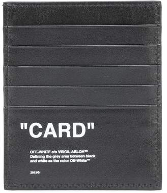 Off-White Off White Quote leather card holder