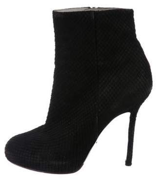 Sergio Rossi Snakeskin Ankle Boots Black Snakeskin Ankle Boots