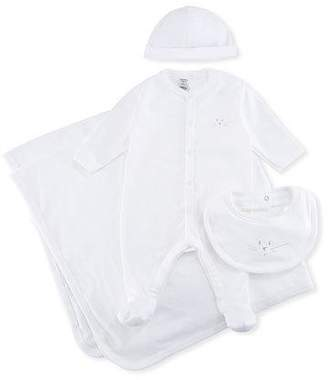 Petit Bateau 4-Piece Cotton Layette Set, Size 1-9 Months