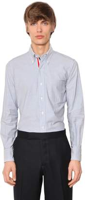 Thom Browne Cotton Oxford Shirt W/ Grosgrain Detail