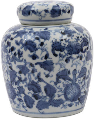 Small Round Decorative Ceramic Ginger Jar with Lid